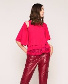 Maglia-cardigan in misto lino con top Rosa Selvatica Donna 201MT3022-01