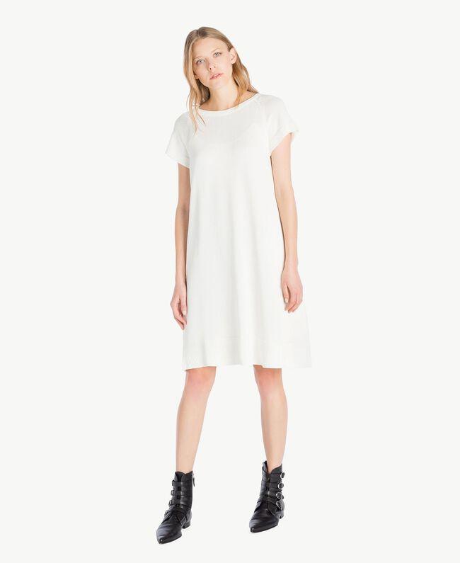 Lace dress Light Ivory Woman PS8371-01