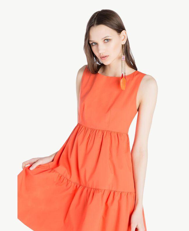 Poplin dress Orange Woman TS821F-04
