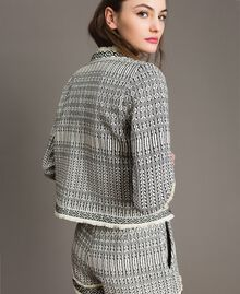 "Ethnic-motif jacquard jacket ""Marzipan"" Beige / Black Jacquard Woman 191TT2431-03"