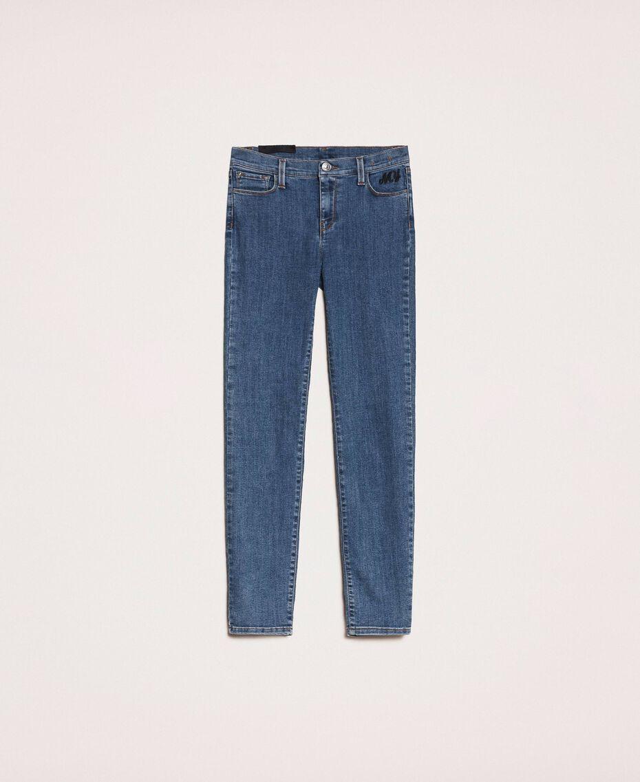 Джинсы скинни с пятью карманами Синий Деним женщина 201MP2321-0S