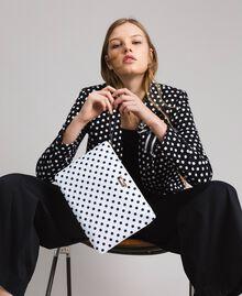 Pochette en tissu technique à pois Imprimé À Pois Blanc / Noir Femme 191MA7123-0S