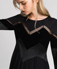 Robe avec détails en velours Noir Femme 192TT2281-05