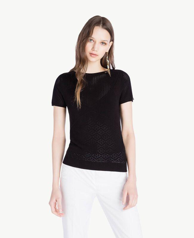 Pullover aus Viskose Schwarz Frau TS832S-01