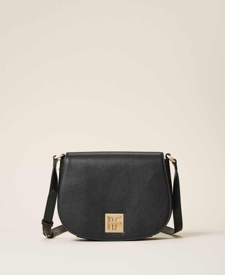 Leather shoulder bag Black Woman 202TD8041-01