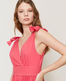 """Длинное платье из поплина Розовый """"Вишнево-розовый"""" женщина 211LM2EJJ-05"""