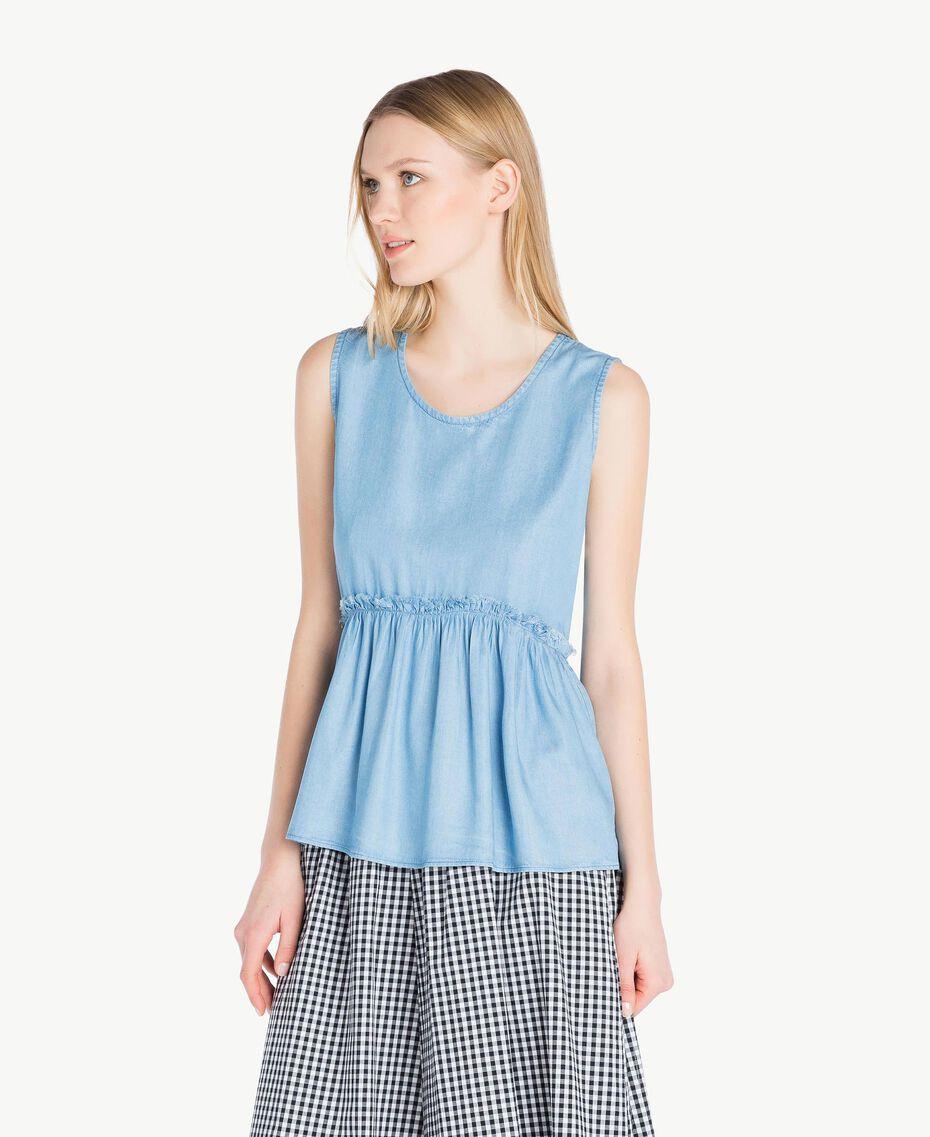 Top denim Bleu Denim Femme JS82S3-02