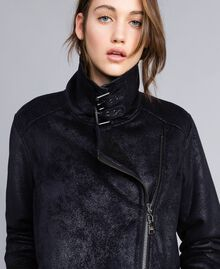 Faux shearling jacket Black / Black Woman JA82G1-01