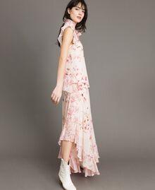 "Georgette-Bluse mit Blumenmuster Motiv ""Blossom / Peach Mix"" Pink Frau 191TP2711-02"