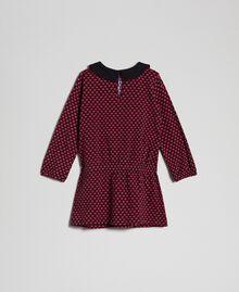 Robe en crêpe avec cœurs all-over Imprimé Petits Cœurs Enfant 192GB2530-0S