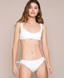 Soutien-gorge de bain triangle avec sequins Blanc Femme 201LMMA33-01