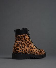 Animal print combat boots Animal Print Woman 192MCP09E-02