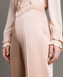 "Cady envers satin trousers ""Nude"" Beige Woman 191TP2691-04"