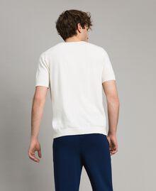 "T-shirt in cotone crêpe con stampa Stampa ""Twinsurf"" Blu Bay Uomo 191UT3050-04"