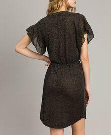 Lurex dress with butterfly Black Lurex Woman 191TT3100-04