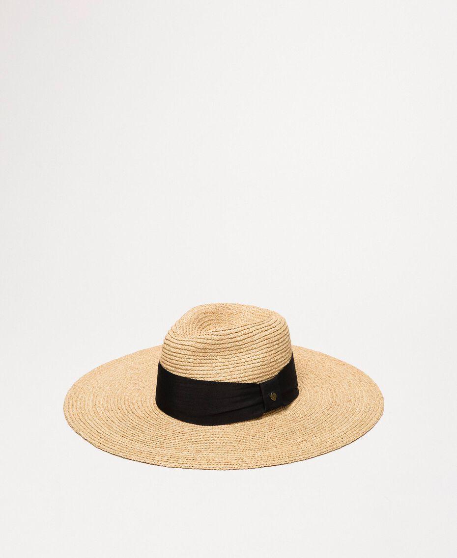 Wide brim straw hat Straw Woman 201TO5400-01