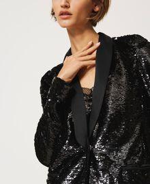 Full sequin jacket Black Woman 202TP2110-06