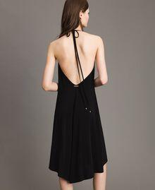 Robe asymétrique en jersey crêpé Noir Femme 191LB22QQ-04