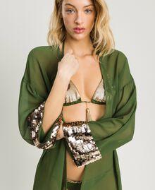 Kimono mit Pailletten Amazonas Grün Frau 191LM2CEE-04