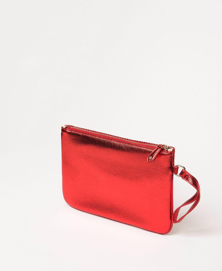 Multicolour faux leather pochette Multicolour Red/ Pink / Fuchsia Woman 201MA7025-03
