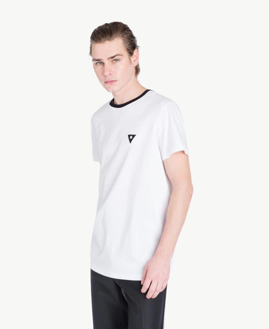 T-Shirt aus Jersey Mattweiß Mann US8227-02