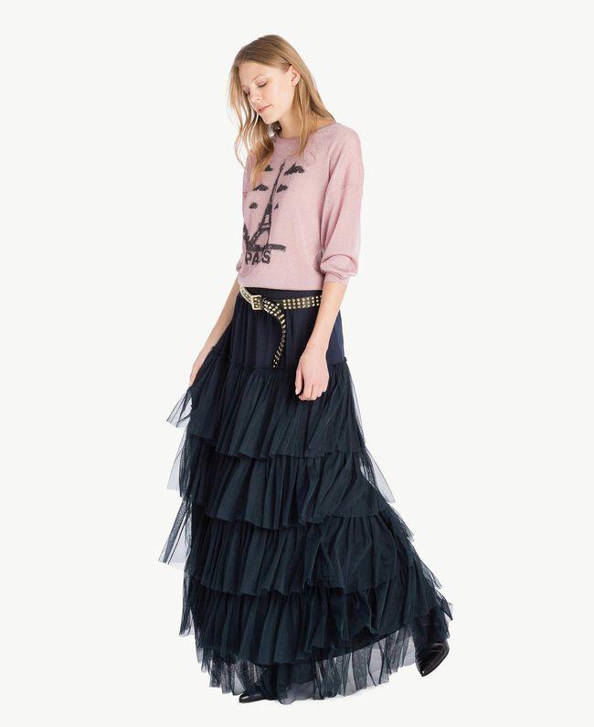 """Lurex knit top """"Hydrangea"""" Pink Lurex Woman PS83Y3-05"""