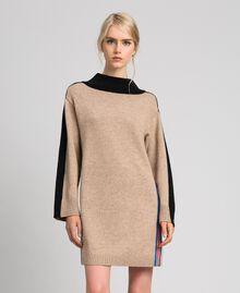 Kleid aus Kaschmirmischung Karamellcreme Frau 192MT3042-01