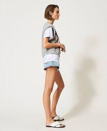 Sudadera sin mangas con estampado Gris Mélangé Mujer 211MT2062-04