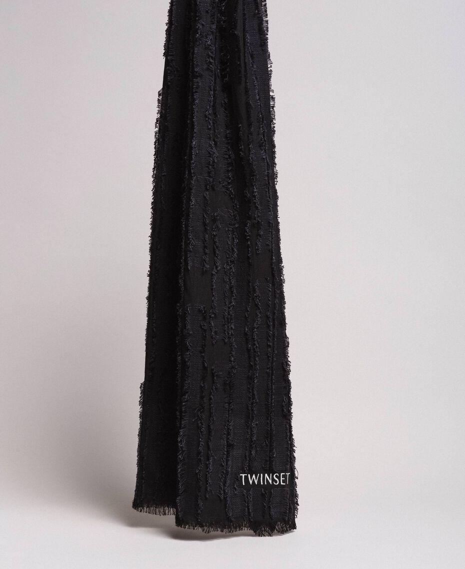 Écharpe en coton Noir Femme 191TA436A-03