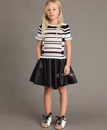 Faux leather skirt with butterflies Black Child 191GJ2261-0T