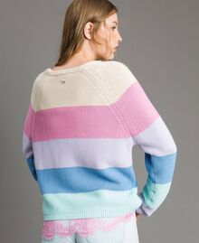 Striped top with heart detail Multicolour Pastel Colour Woman 191MP3011-04