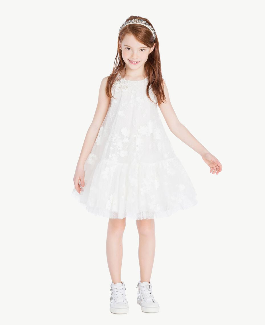 "Robe tulle Blanc ""Papers"" Enfant GS8LCA-02"