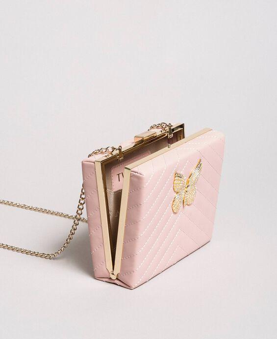 Matelassé leather clutch bag