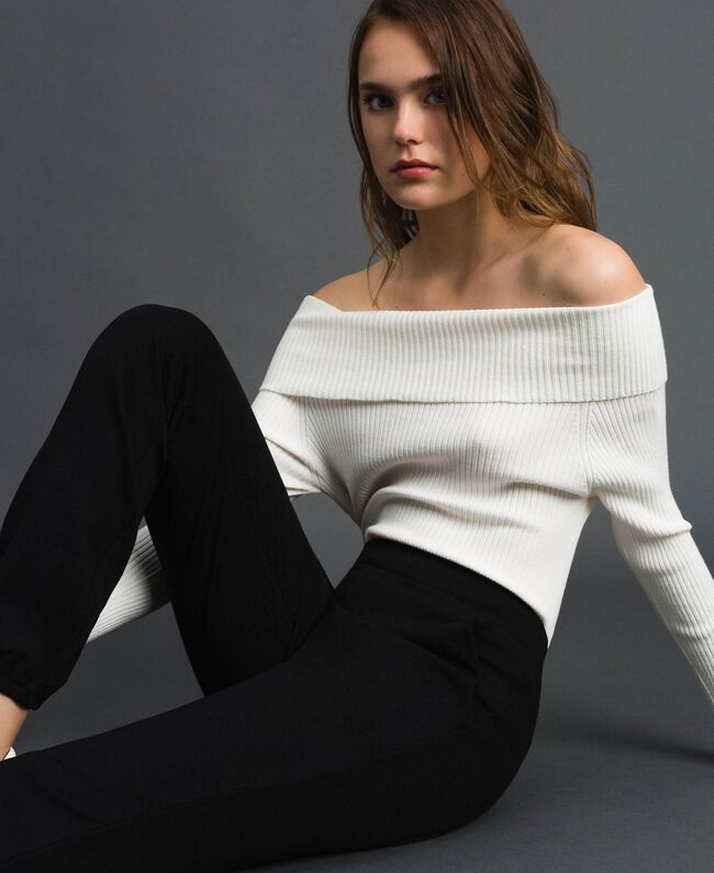 Jogging trousers Melange Grey Woman 192LI2UEE-01