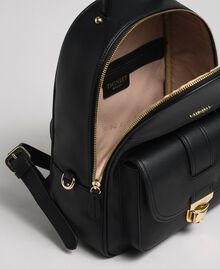 Faux leather backpack Black Woman 192TA7133-05