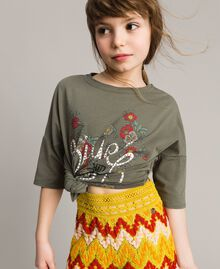 Multicolour jacquard trousers Multicolour Jacquard Child 191GJ2272-04