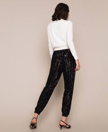 Sequinned joggers Black Woman 201LB21GG-03