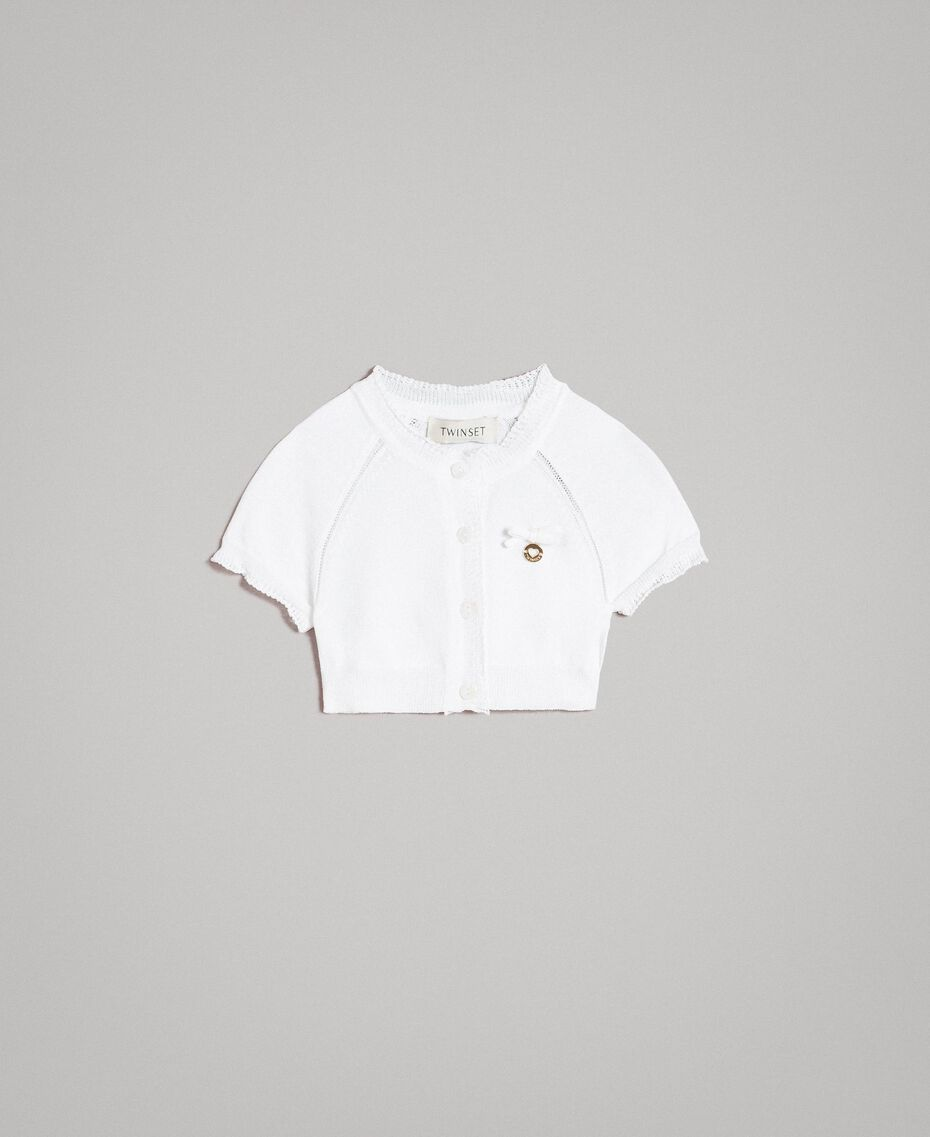 Viscose crêpe shrug White Child 191GB3011-01
