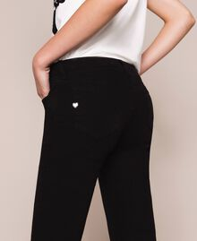 Skinny trousers with frayed hem Black Woman 201MP2301-04