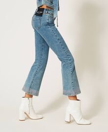 Flared jeans with studs Light Denim Woman 202MP2191-01