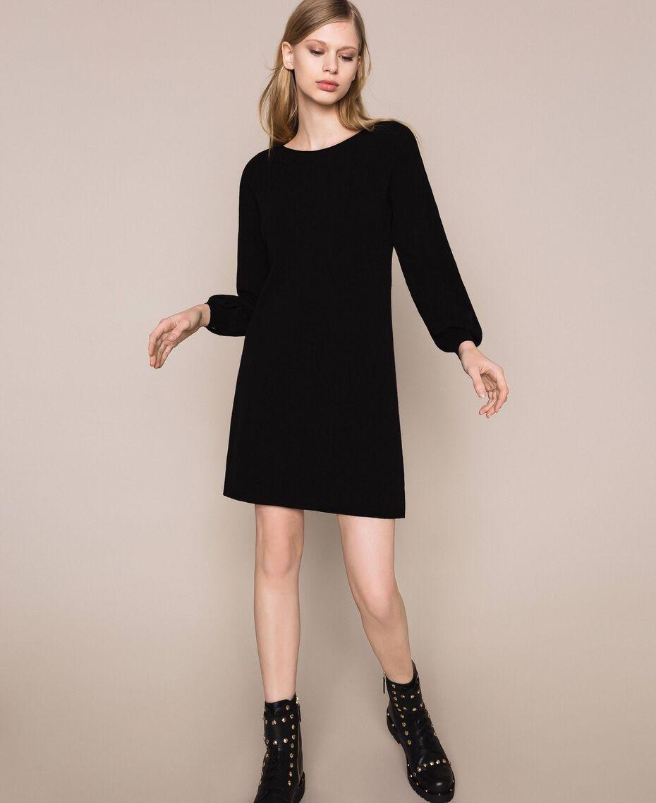Платье с пуговицами-стразами Черный женщина 201TP3101-02
