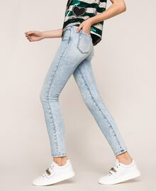 Push up jeans with five pockets Denim Blue Woman 201MP227K-01