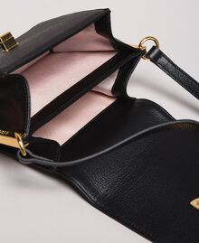 Leather Bea shoulder bag with fringes Black Woman 191TO8231-05