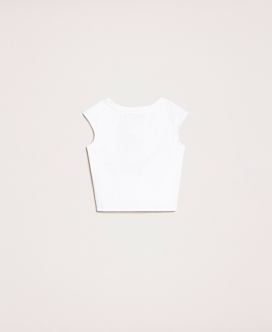 "Printed cropped top Sunny Print / ""Papers"" White Child 201GB2311-0S"