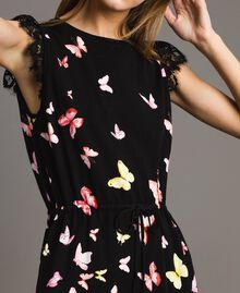 Patterned knit dress Black Butterfly Print Woman 191TT3180-04