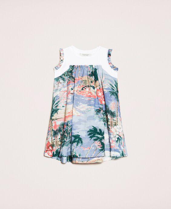 Платье из смесового льна с принтом