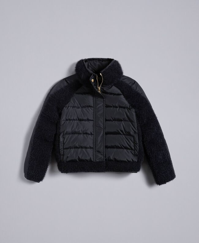 Short knit and nylon padded jacket Black Child GA82A4-01