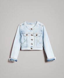 Denim jacket with rhinestones Bleach Denim Child 191GJ2471-01