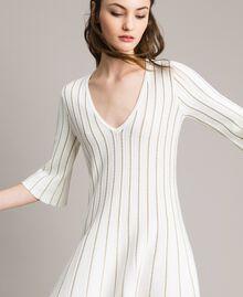 Knit dress with lurex stripes White Snow Woman 191TP3250-01