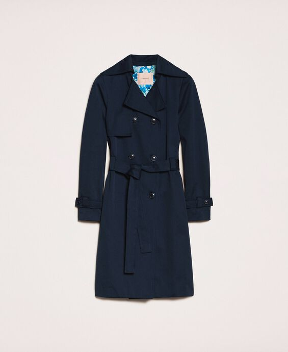 Water repellent double breasted trench coat